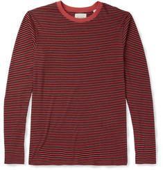 Billy Reid Striped Cotton and Cashmere-Blend Long-Sleeved T-Shirt