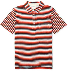 Billy Reid Pensacola Striped Cotton-Jersey Polo Shirt