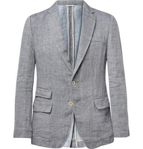 Billy Reid Lewis Linen and Cotton-Blend Blazer