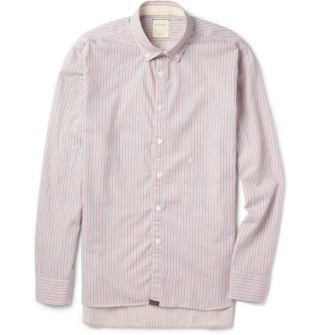 Billy Reid Striped Cotton Oxford Shirt