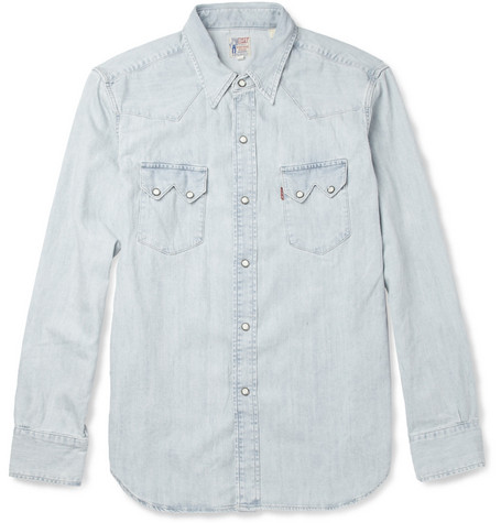 Levi's Vintage Clothing 1955 Bleached-Denim Shirt