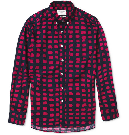 Saturdays Surf NYC Crosby Printed Button-Down Collar Cotton Shirt