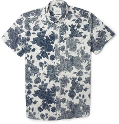 SATURDAYS SURF NYC ESQUINA FLORAL-PRINT COTTON SHIRT