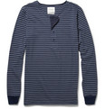 Saturdays NYC - Mitch Long-Sleeved Striped Cotton Henley T-Shirt