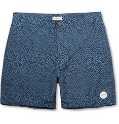 Saturdays Surf NYC Notebook Printed Mid-Length Swim Shorts