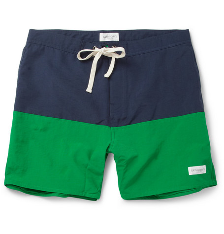 Saturdays Surf NYC Ennis Mid-Length Swim Shorts