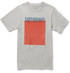 Saturdays Surf NYC Block Printed Cotton-Jersey T-Shirt