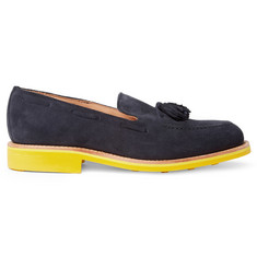 Mark McNairy Contrast-Sole Suede Tasselled Loafers
