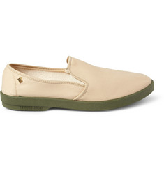 Rivieras Cotton-Canvas Slip-On Shoes