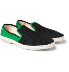 Rivieras Mesh and Canvas Slip-On Shoes