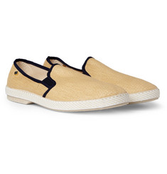 Rivieras Raffia Mesh Slip-On Shoes