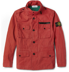 Stone Island Tela Stella Cotton-Canvas Field Jacket