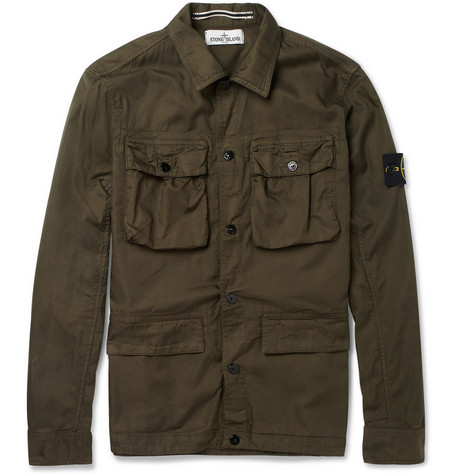 Stone Island Cotton-Blend Overshirt