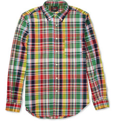 Woolrich Woolen Mills Madras-Check Cotton Shirt