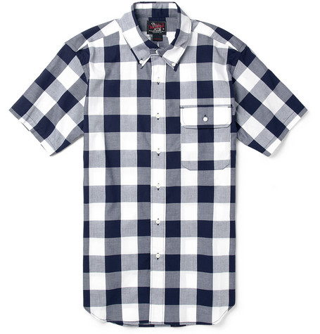 Woolrich Woolen Mills Buffalo-Check Short-Sleeved Cotton Shirt