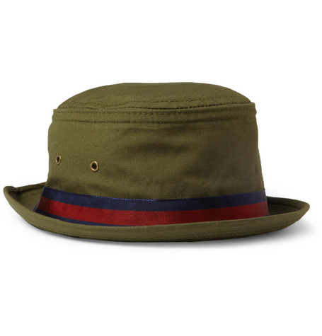 Woolrich Woolen Mills Grosgrain-Trimmed Cotton-Canvas Hat