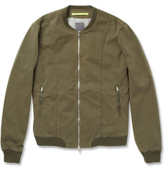 Lot78 Cotton-Blend Bomber Jacket