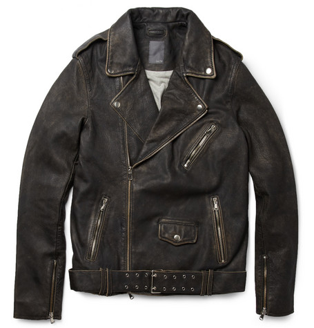 Lot78 Leather Biker Jacket