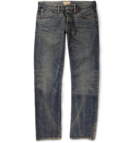 Simon Miller Park View Straight-Fit Washed Denim Jeans