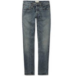 Simon Miller Summerland Slim-Fit Washed Selvedge Denim Jeans
