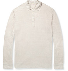 Massimo Alba Long-Sleeved Linen Polo Shirt