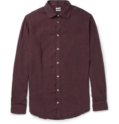 Massimo Alba Gingham Check Linen Shirt