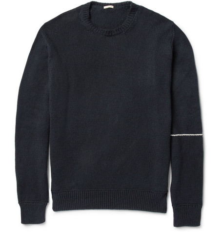 Massimo Alba Knitted Cotton Crew Neck Sweater