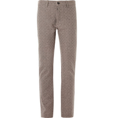 Massimo Alba Basket Weave-Pattern Cotton Trousers
