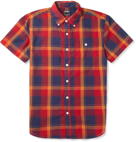 Todd Snyder Plaid Cotton Short-Sleeved Shirt