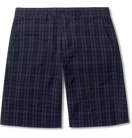 Todd Snyder Check Cotton-Blend Seersucker Shorts
