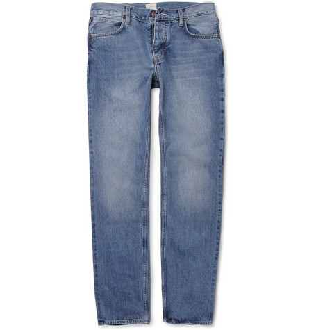 Jean.Machine J.M-3 Straight-Leg Washed-Denim Selvedge Jeans