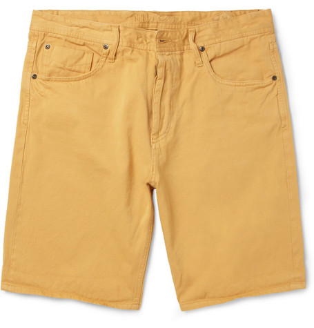 NN.07 Jakob Garment-Dyed Selvedge Denim Shorts