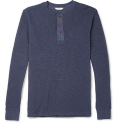 NN.07 Emil Long-Sleeved Cotton Henley T-Shirt