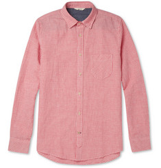 NN.07 Clay Gingham-Check Linen and Cotton-Blend Shirt