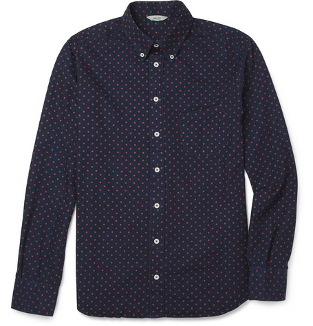 NN.07 Polka Dot-Print Denim Shirt