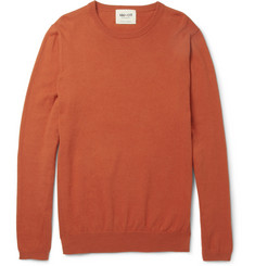 NN.07 Bryan Cotton and Cashmere-Blend Crew Neck Sweater