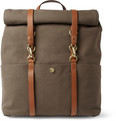 Mismo - Leather-Trimmed Canvas Backpack