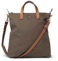 Mismo Leather-Trimmed Canvas Tote Bag