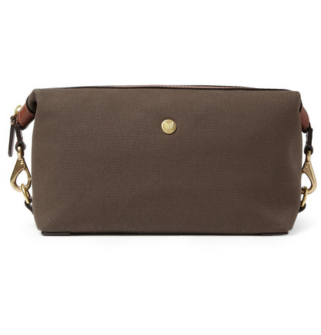 Mismo Leather-Trimmed Canvas Washbag