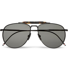 Thom Browne Metal Aviator Sunglasses