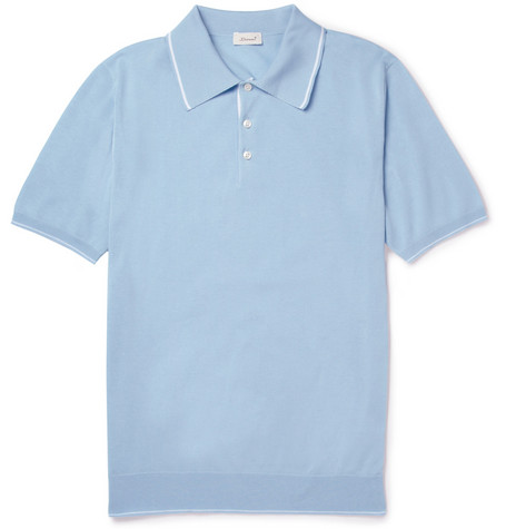 Doriani Fine-Knit Cotton Polo Shirt