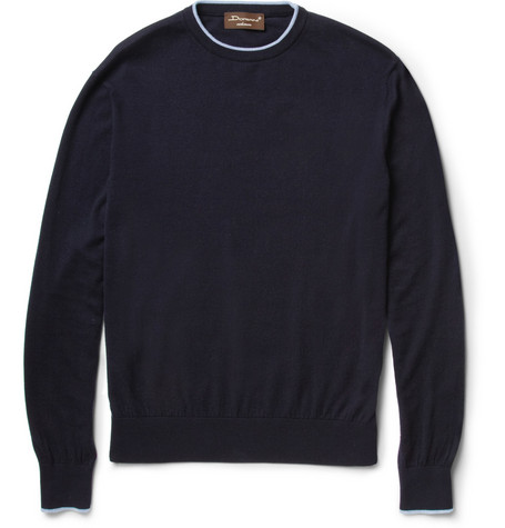 Doriani Cotton and Cashmere-Blend Sweater