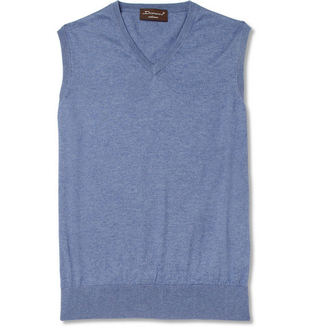 Doriani Sleeveless Cotton, Cashmere and Silk-Blend Sweater