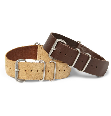 Timex x J.Crew Set of Two Suede and Leather Watch Straps