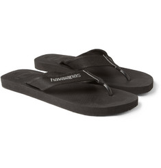 Havaianas Canvas and Rubber Flip Flops