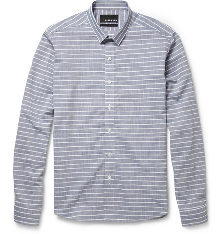 Bespoken Slim-Fit Striped Cotton Shirt
