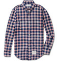Thom Browne - Button-Down Collar Check Cotton Shirt
