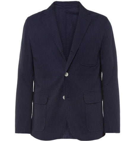 Beams Plus Unstructured Cotton-Blend Seersucker Blazer
