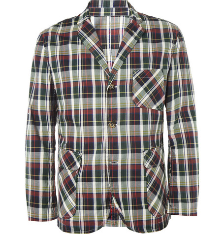 Beams Plus Check Lightweight Cotton Blazer