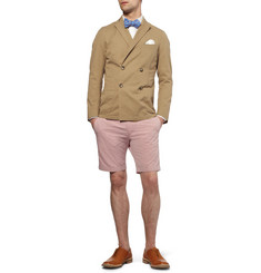Beams Plus Slim-Fit Double-Breasted Cotton-Twill Blazer
